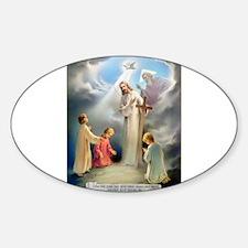Ten Commandments - I Am The L Oval Decal