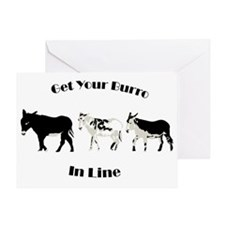 get in line Greeting Card