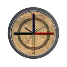 Cute Cherokee medicine wheel Wall Clock