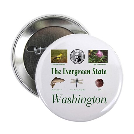 "Evergreen State (green) 2.25"" Button (10 pack)"