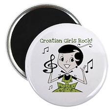 Croatian Girls Rock Magnet