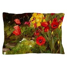 Poppies and Irises Pillow Case