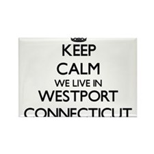 Keep calm we live in Westport Connecticut Magnets