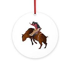 Cowboy - Bull Rider NO Text Ornament (Round)