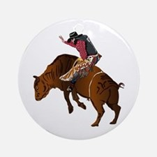 Cowboy - Bull Rider NO Text Ornament (Round)