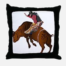 Cowboy - Bull Rider NO Text Throw Pillow