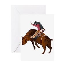 Cowboy - Bull Rider NO Text Greeting Card