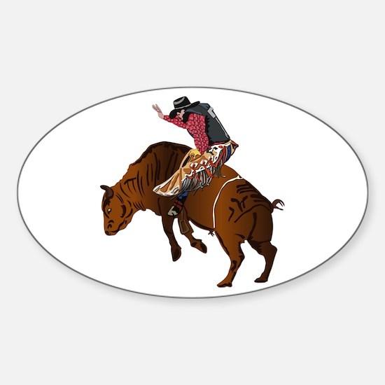 Cowboy - Bull Rider NO Text Sticker (Oval)