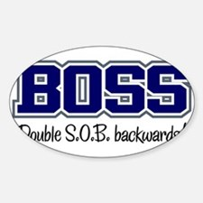 Boss - Double S.O.B. Oval Decal