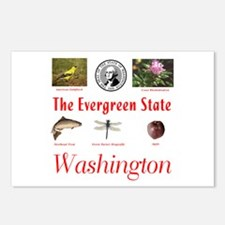 Evergreen State (red) Postcards (Package of 8)