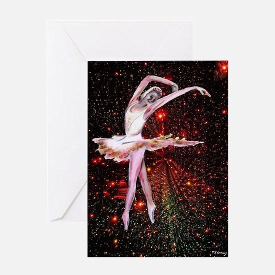 Dancer and stars, dance art Greeting Card