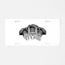 Three Wise Chef Skulls Aluminum License Plate