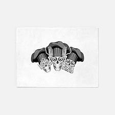 Three Wise Chef Skulls 5'x7'Area Rug