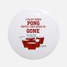 Unique Beer pong Round Ornament
