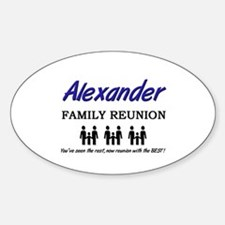 Alexander Family Reunion Oval Decal