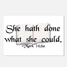 """""""She Hath Done"""" Postcards (Package of 8)"""