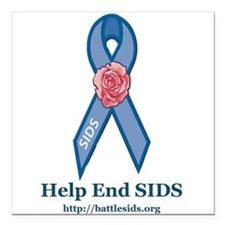 "Help End SIDS Square Car Magnet 3"" x 3"""