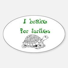 Unique Box turtles Sticker (Oval)