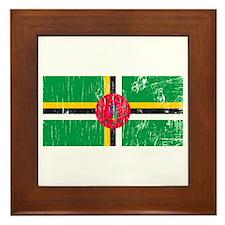Vintage Dominica Framed Tile