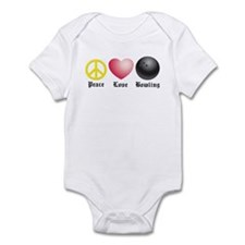 Peace, Love, Bowling Infant Bodysuit