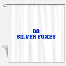 Silver Foxes-Fre blue Shower Curtain