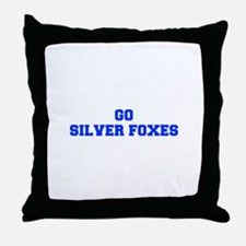 Silver Foxes-Fre blue Throw Pillow