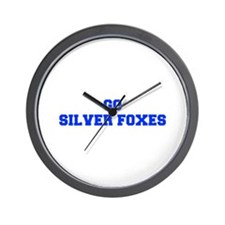 Silver Foxes-Fre blue Wall Clock