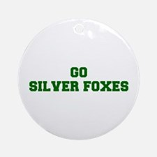 Silver Foxes-Fre dgreen Ornament (Round)