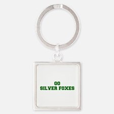 Silver Foxes-Fre dgreen Keychains