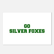 Silver Foxes-Fre dgreen Postcards (Package of 8)