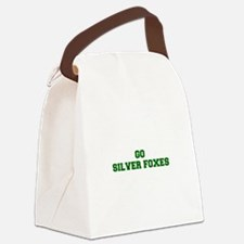 Silver Foxes-Fre dgreen Canvas Lunch Bag