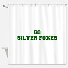 Silver Foxes-Fre dgreen Shower Curtain