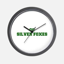 Silver Foxes-Fre dgreen Wall Clock