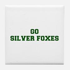 Silver Foxes-Fre dgreen Tile Coaster