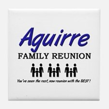 Aguirre Family Reunion Tile Coaster