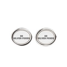 SILVER FOXES-Fre gray Oval Cufflinks