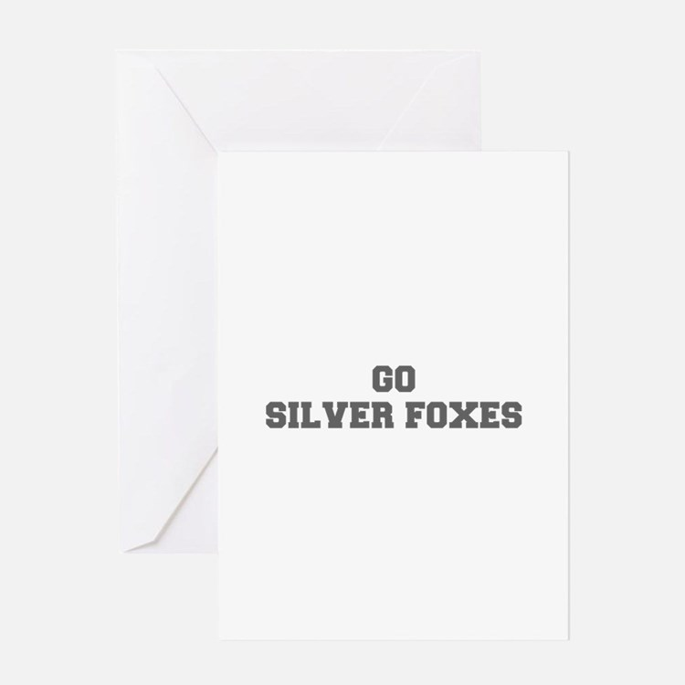 SILVER FOXES-Fre gray Greeting Cards