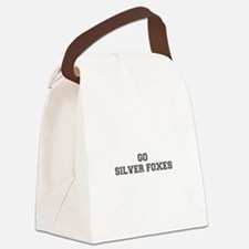SILVER FOXES-Fre gray Canvas Lunch Bag