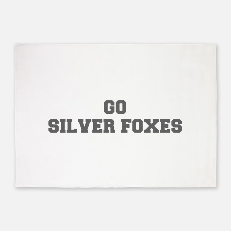 SILVER FOXES-Fre gray 5'x7'Area Rug