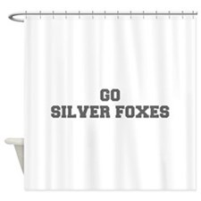 SILVER FOXES-Fre gray Shower Curtain