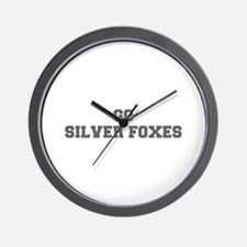 SILVER FOXES-Fre gray Wall Clock