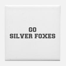 SILVER FOXES-Fre gray Tile Coaster