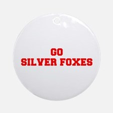 SILVER FOXES-Fre red Ornament (Round)