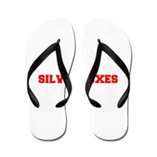 SILVER FOXES-Fre red Flip Flops