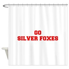 SILVER FOXES-Fre red Shower Curtain