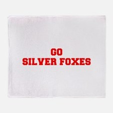 SILVER FOXES-Fre red Throw Blanket