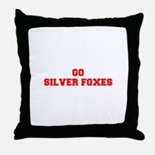 SILVER FOXES-Fre red Throw Pillow