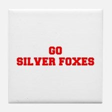 SILVER FOXES-Fre red Tile Coaster