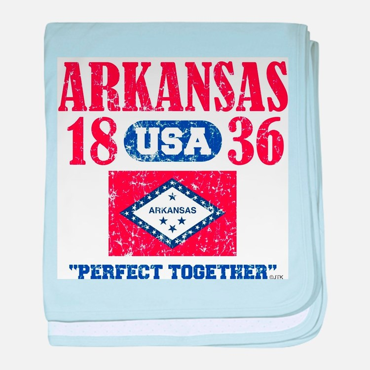 "ARKANSAS / USA 1836 STATEHOOD ""PERFEC baby blanket"
