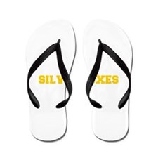 Silver Foxes-Fre yellow gold Flip Flops